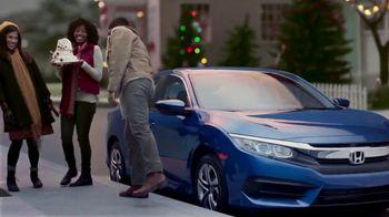Happy Honda Days TV Spot, 'Holiday Lights: Civic' [T2] - Thumbnail 3