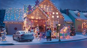 Happy Honda Days TV Spot, 'Holiday Lights: Civic' [T2] - 83 commercial airings