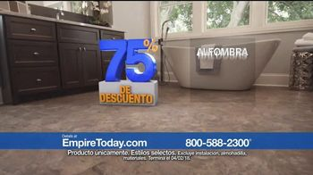 Empire Today Venta de 75 Por Ciento TV Spot, 'Pisos nuevos' [Spanish]