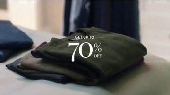 JoS. A. Bank Weekend Warm-Up Sale TV Spot, 'Get Up to 70 Percent Off' - Thumbnail 2