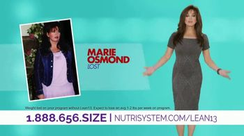 Nutrisystem Lean13 TV Spot, 'From Here to Here' Featuring Marie Osmond - 264 commercial airings
