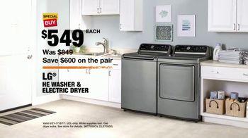 The Home Depot Red, White & Blue Savings TV Spot, 'Laundry Upgrade: LG' - Thumbnail 10