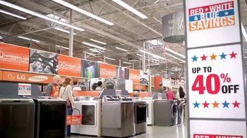 The Home Depot Red, White & Blue Savings TV Spot, 'Laundry Upgrade: LG' - Thumbnail 6
