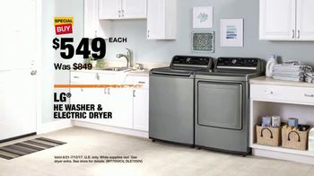 The Home Depot Red, White & Blue Savings TV Spot, 'Laundry Upgrade: LG' - Thumbnail 9