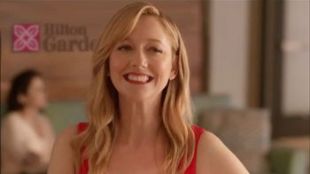 Hilton Garden Inn TV Spot, 'Story of How We Met' Featuring Judy Greer - Thumbnail 5