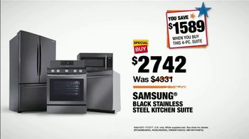 The Home Depot Red, White & Blue Savings TV Spot, 'Samsung Kitchen Suite' - Thumbnail 8