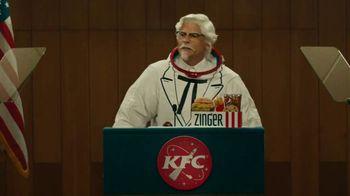 KFC Zinger Sandwich TV Spot, 'Press Conference: Zinger 1' Feat. Rob Lowe - Thumbnail 1