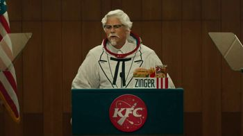 KFC Zinger Sandwich TV Spot, 'Press Conference: Zinger 1' Feat. Rob Lowe - Thumbnail 4