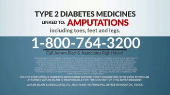 Avram Blair & Associates TV Spot, 'Diabetes Medication and Amputation' - Thumbnail 7