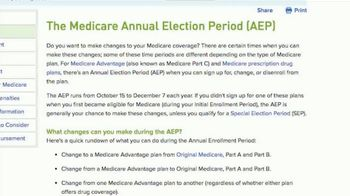 Aetna TV Spot, 'Medicare Annual Election Period'