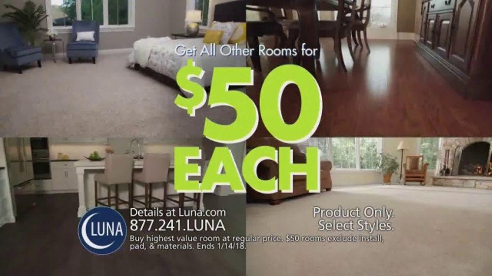 Luna Flooring $50 Room Sale TV Commercial, U0027Update Your Floorsu0027   ISpot.tv