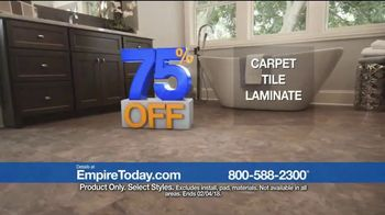 Empire Today 75 Percent Off Sale TV Spot, 'Save Big on New Floors'
