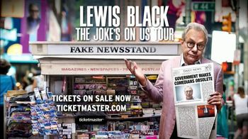 Lewis Black TV Spot, '2017 The Joke's on Us Tour'