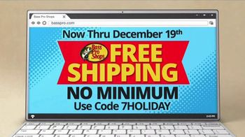 Bass Pro Shops TV Spot, 'Santa's Wonderland: Free Shipping'