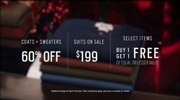 Men's Wearhouse TV Spot, 'The Gift He Needs: Coats, Sweaters and Suits' - 1329 commercial airings