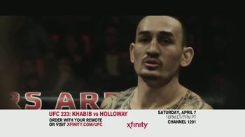 UFC 223 TV Spot, 'XFINITY: Khabib vs. Holloway' - 12 commercial airings