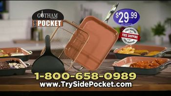 Gotham Steel Side Pocket Pan TV Spot, 'Make Two Things at Once' - Thumbnail 10