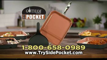 Gotham Steel Side Pocket Pan TV Spot, 'Make Two Things at Once' - Thumbnail 8