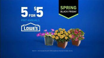 Lowe's Spring Black Friday TV Spot, 'Good Backyard: Pint Annuals' - Thumbnail 10