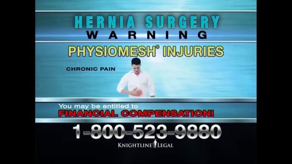 Knightline Legal TV Commercial, 'Physiomesh' - iSpot.tv