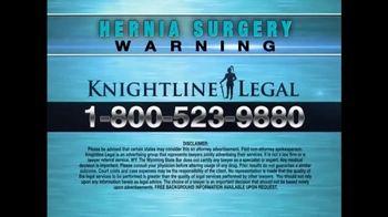 Knightline Legal TV Spot, 'Physiomesh' - Thumbnail 10