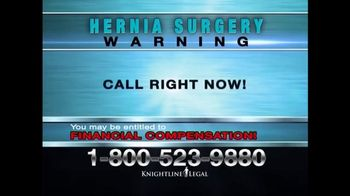 Knightline Legal TV Spot, 'Physiomesh' - Thumbnail 4