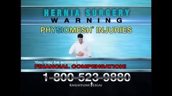 Knightline Legal TV Spot, \'Physiomesh\'