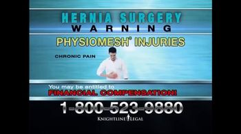 Knightline Legal TV Spot, 'Physiomesh' - Thumbnail 6