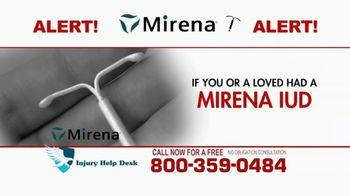 Injury Help Desk TV Spot, 'Attention Women: Mirena' - Thumbnail 1