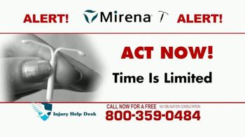 Injury Help Desk TV Spot, 'Attention Women: Mirena' - Thumbnail 7