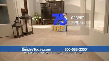 Empire Today 75 Percent Off Sale TV Spot, 'Save Big on New Floors' - Thumbnail 3