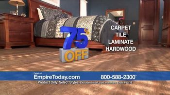 Empire Today 75 Percent Off Sale TV Spot, 'Save Big on New Floors' - Thumbnail 4