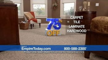 Empire Today 75 Percent Off Sale TV Spot, 'Save Big on New Floors' - Thumbnail 8