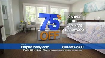 Empire Today 75 Percent Off Sale TV Spot, 'Save Big on New Floors' - Thumbnail 9