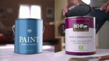 BEHR PREMIUM PLUS Interior TV Spot, 'Ordinary vs. Overachiever'
