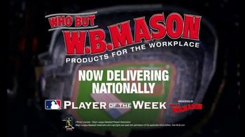 W.B. Mason TV Spot, 'Major League Baseball Players of the Week' - Thumbnail 9