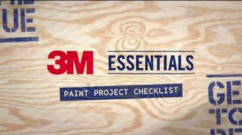 3M TV Spot, 'Paint Project Checklist'
