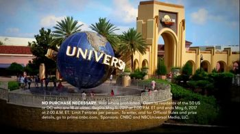 CNBC Universal Orlando Sweepstakes TV Spot, 'Trip for Four'