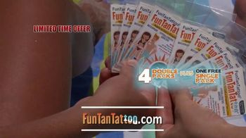 Funtantattoo TV Spot, 'Fun in the Sun' Featuring Kevin Harrington - 1 commercial airings