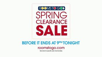 Rooms to Go Spring Clearance Sale TV Spot, 'Ends Tonight' - Thumbnail 9