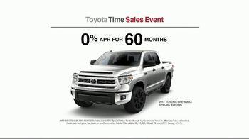 Toyota Time Sales Event TV Spot, '2017 Tundra CrewMax' [T2] - Thumbnail 4