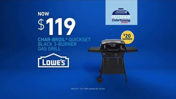Lowe's Outdoor Entertaining Event TV Spot, 'The Moment: Gas Grill' - Thumbnail 7