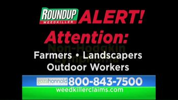 Goza Honnold Trial Lawyers TV Spot, 'Roundup Weed Killer' - Thumbnail 1