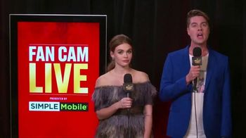 SIMPLE Mobile TV Spot, 'MTV: Fan Cam' Featuring Jeffery Self, Holland Roden - 4 commercial airings