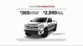 Toyota Time Sales Event TV Spot, '2017 Tundra Double Cab' [T2] - Thumbnail 7