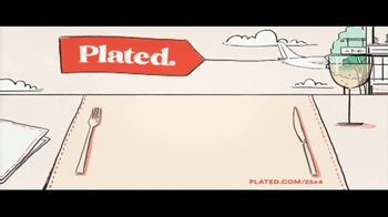 Plated TV Spot, 'Travel the World: 25 Percent Off' - Thumbnail 2