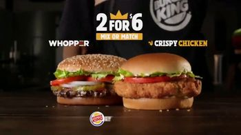 Burger King 2 for $6 TV Spot, 'Mix or Match: Sandwiches' - Thumbnail 8