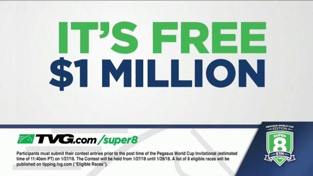 TVG Network Super 8 Contest TV Commercial, 'Pegasus World ...