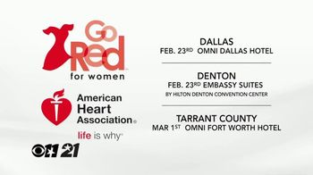 American Heart Association TV Spot, 'CBS 11: 2018 Go Red for Women' - Thumbnail 4