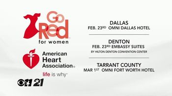 American Heart Association TV Spot, 'CBS 11: 2018 Go Red for Women' - Thumbnail 5